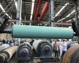 Paper Machine Stonite Embossing Grooved Blind Hole Jumbo Press Roll